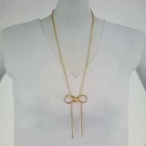 NWOT Stella & Ruby Bow Necklace